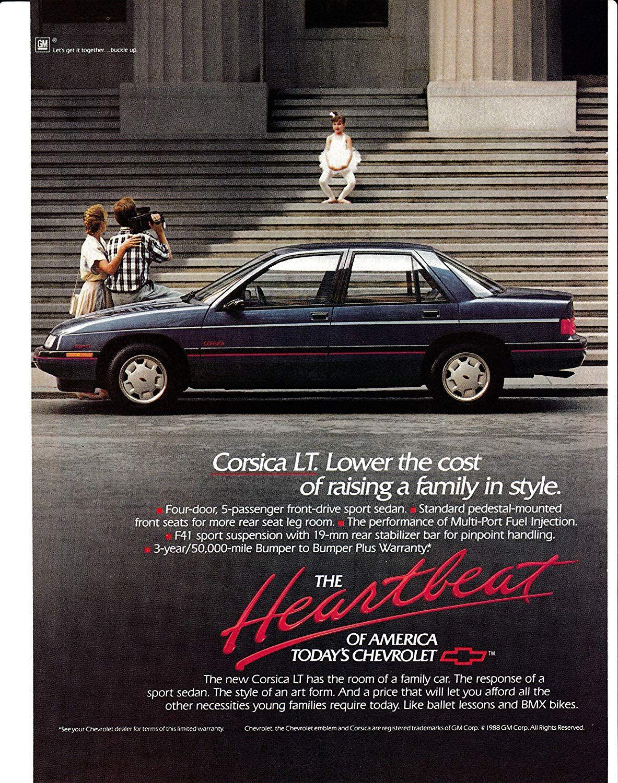 Amazon Com 1989 Chevrolet Corsica Lt Original Magazine Ad