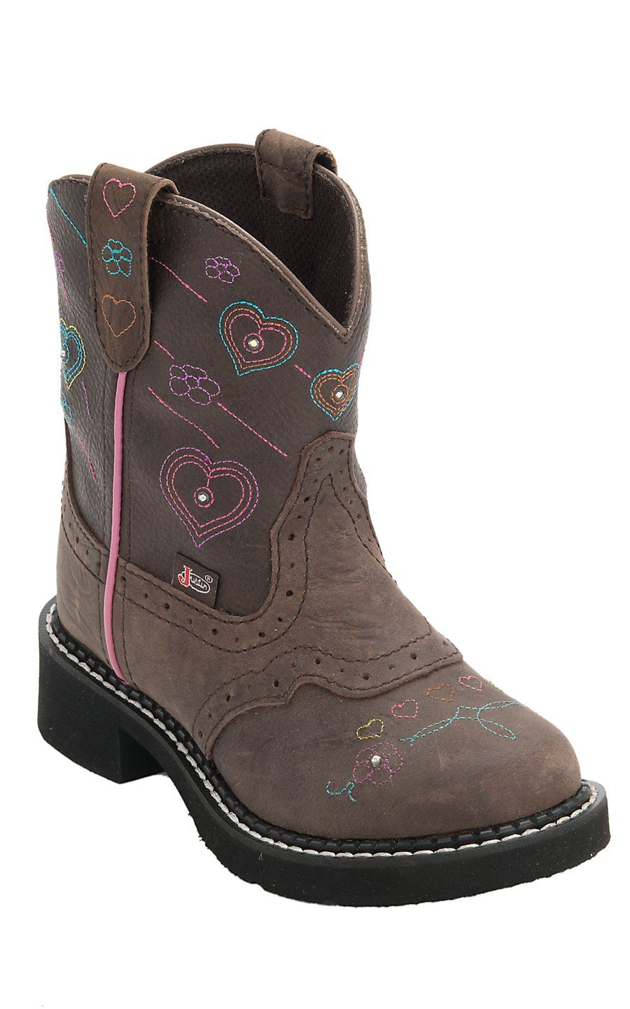 a7d4cb166e5a Justin® Junior Gypsy™ Kids Distressed Brown w Twinkle Lights Round Toe Western  Boots