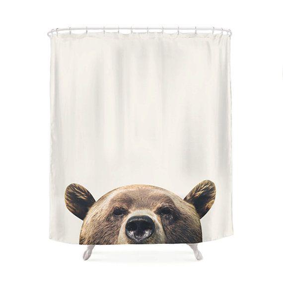 Bear Shower Curtain So Cute Sicem Bear Bathroom Decor