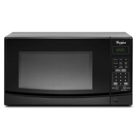 Whirlpool 0 7 Cu Ft 700 Watt Countertop Microwave Black