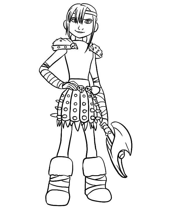 Viking Lady Warrior Astrid In How To Train Your Dragon Coloring Pages Coloring Sky Dragon Coloring Page Coloring Pages How Train Your Dragon