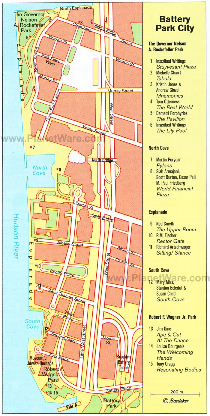 battery park map | Battery Park City Map | New York | Pinterest