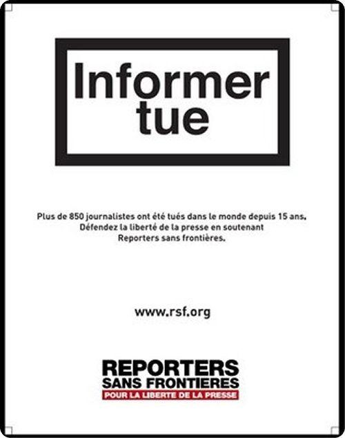 Journalism Liberte De La Presse Reporters Sans Frontieres Frontieres