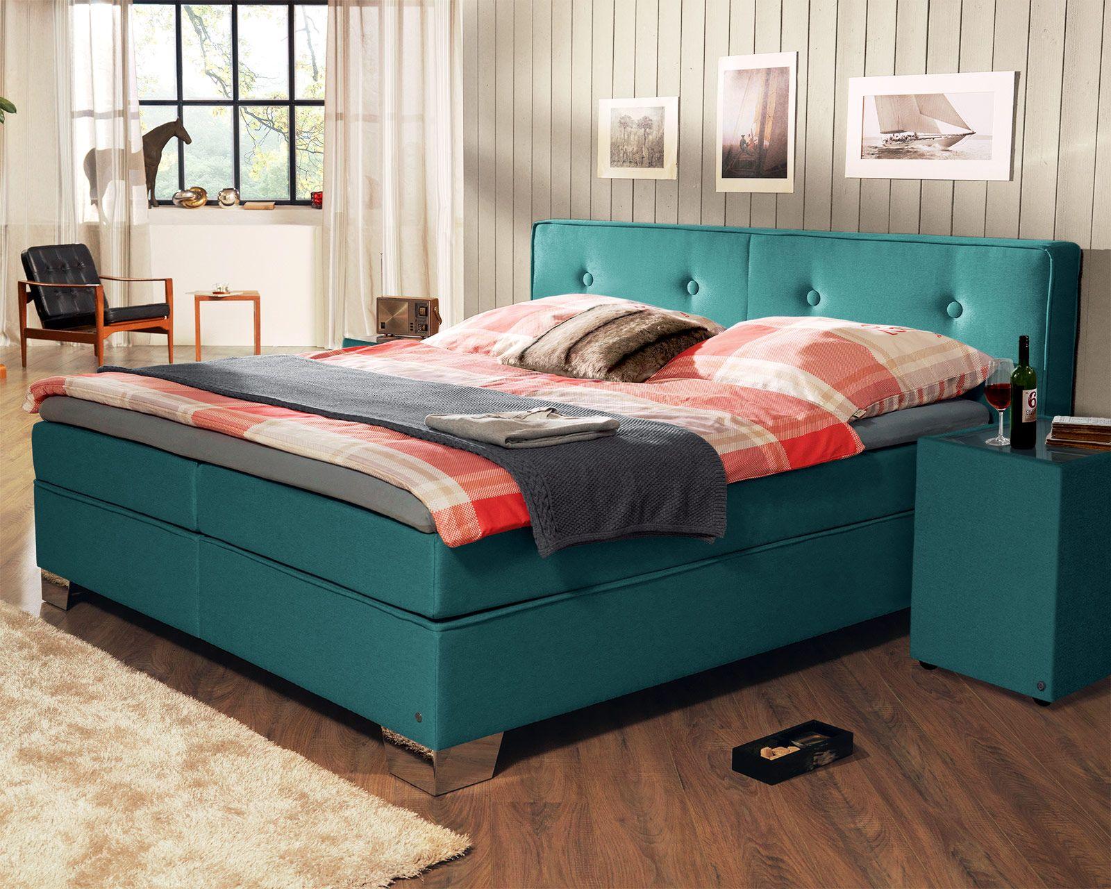 """trendiges boxspringbett """"tom tailor"""" soft in modernen farben, Wohnzimmer dekoo"""