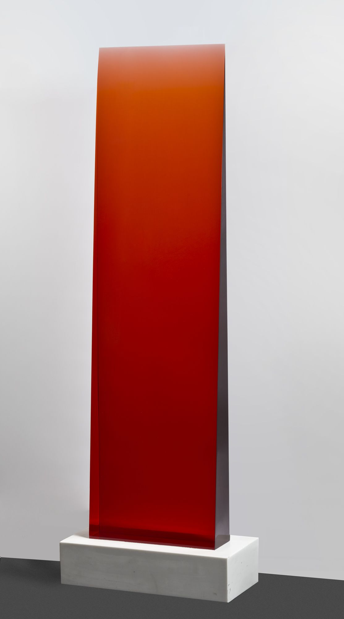 Red Bases For Living Room Decor: Red Gradient Filter Wedge Cast Polyurethane Resin Fused To