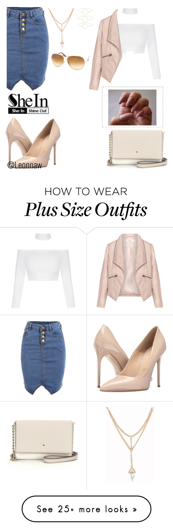 """Evening Out"" by leonnaw on Polyvore featuring Massimo Matteo, Kate Spade, Zizzi, Accessorize and Tom Ford"