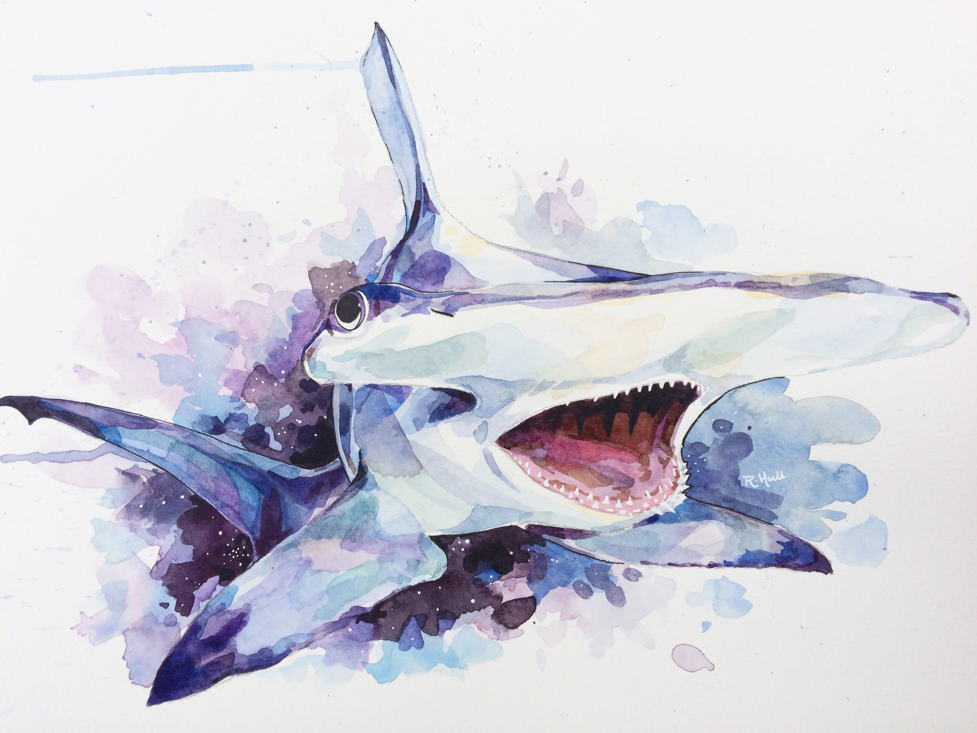 shark zoom paint il listing necklace stencil fullxfull spray miniature hammerhead and art
