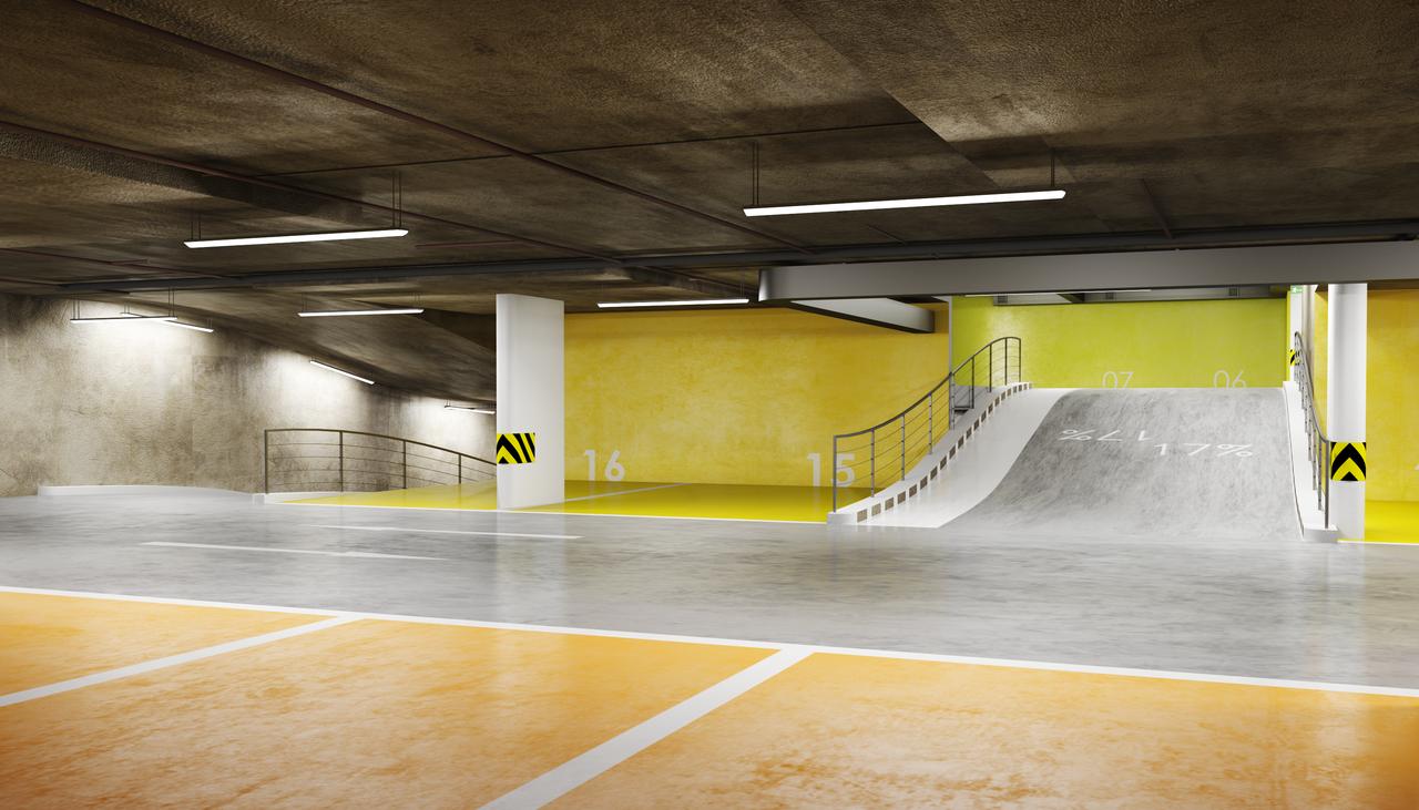Underground Parking Concept By Zjic On Deviantart Parking Design Car Park Design Park Signage