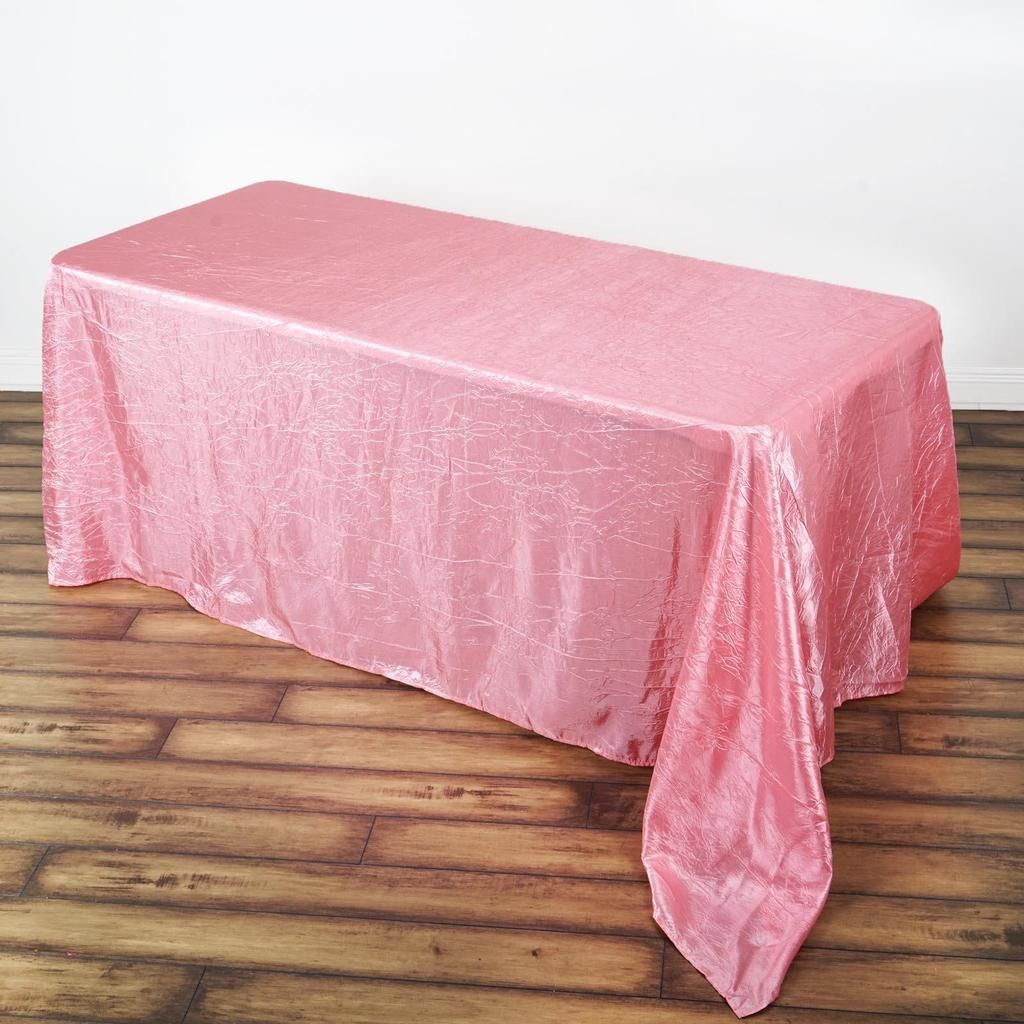 "Rose Quartz Pink CRINKLED TAFFETA FABRIC 12/"" x 10 yrds Bolt Put-up Wedding Party"