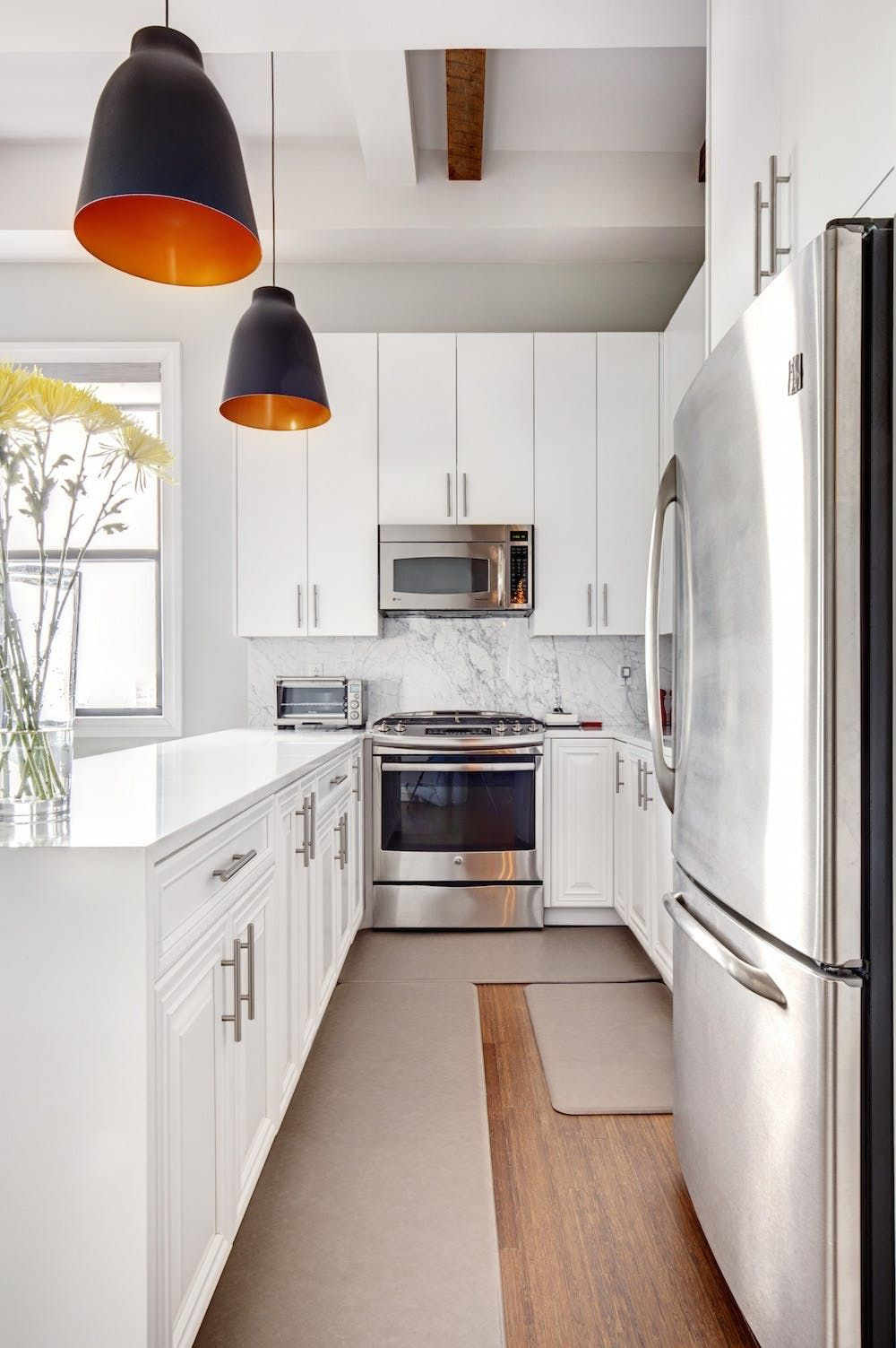 Before & After: A Sophisticated Apartment Kitchen Remodel ...