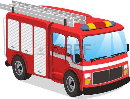 Worksheet. Fuego ilustracin de dibujos animados de camiones de bomberos
