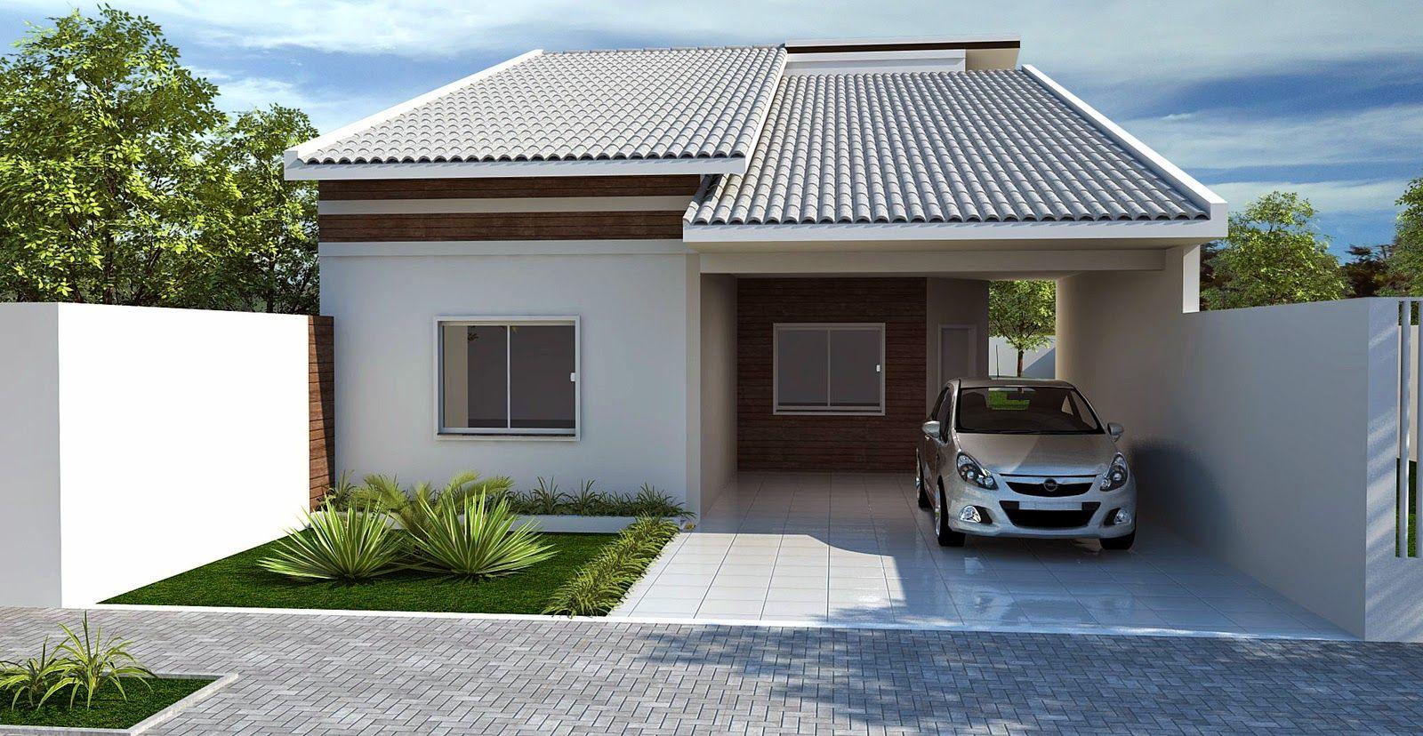 30 fachadas de casas modernas e cinza a cor do momento for Casa moderna 90m2