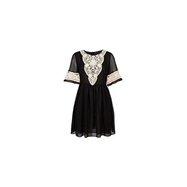 Fashion Union › Glamorous Crochet Tunic ($46) ❤ liked on Polyvore featuring dresses, vestidos, tops, shirts and fashion union