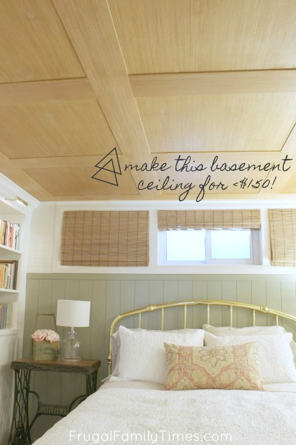 Photo of How to Make a Basement Plywood Ceiling (that looks like wood paneling!)