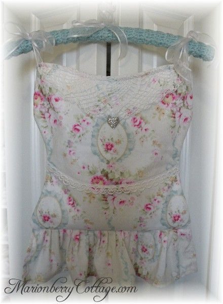 French Bustier Lingerie Bag pink roses with blue ribbons