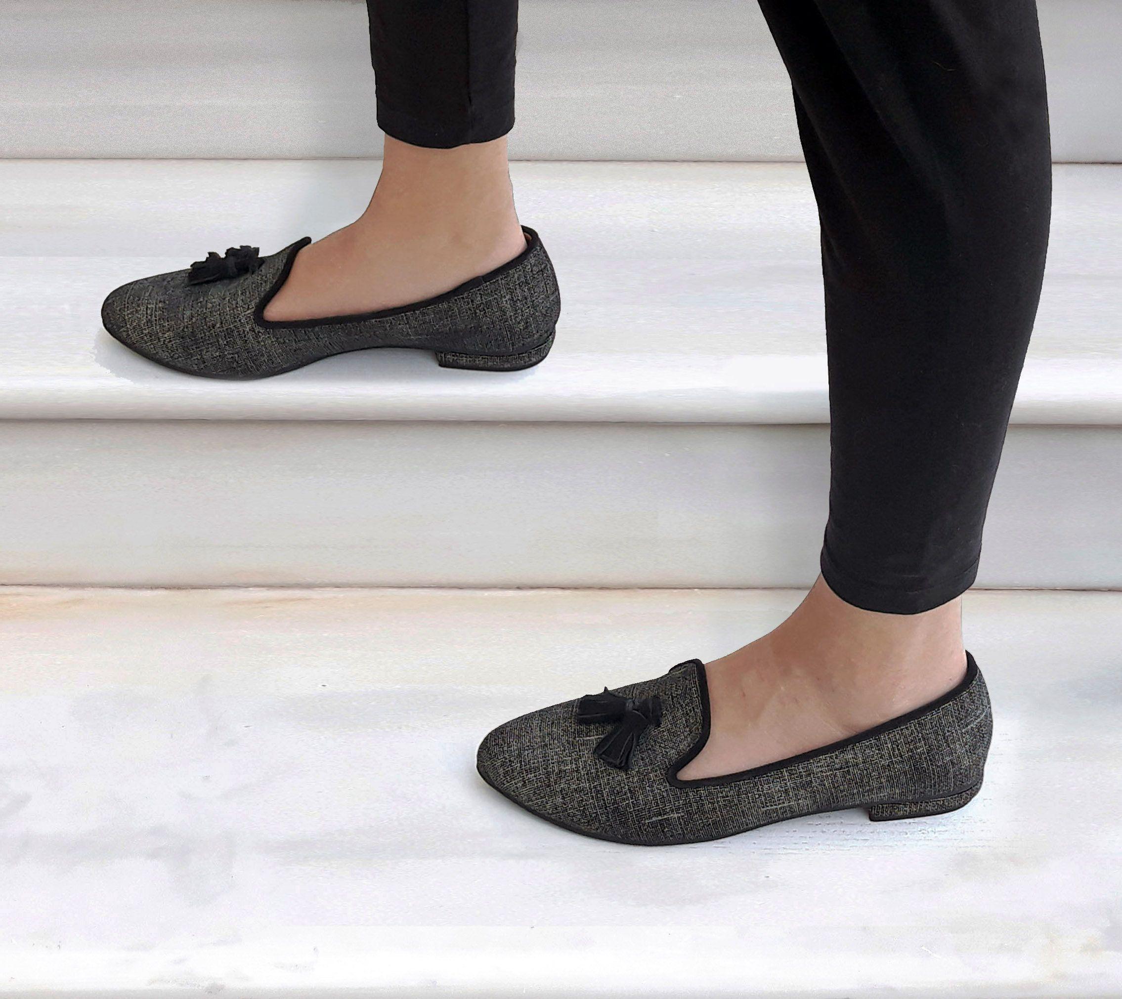 Slip Ons Leather Flats Women Leather Shoes Handmade Flat Shoes Medina