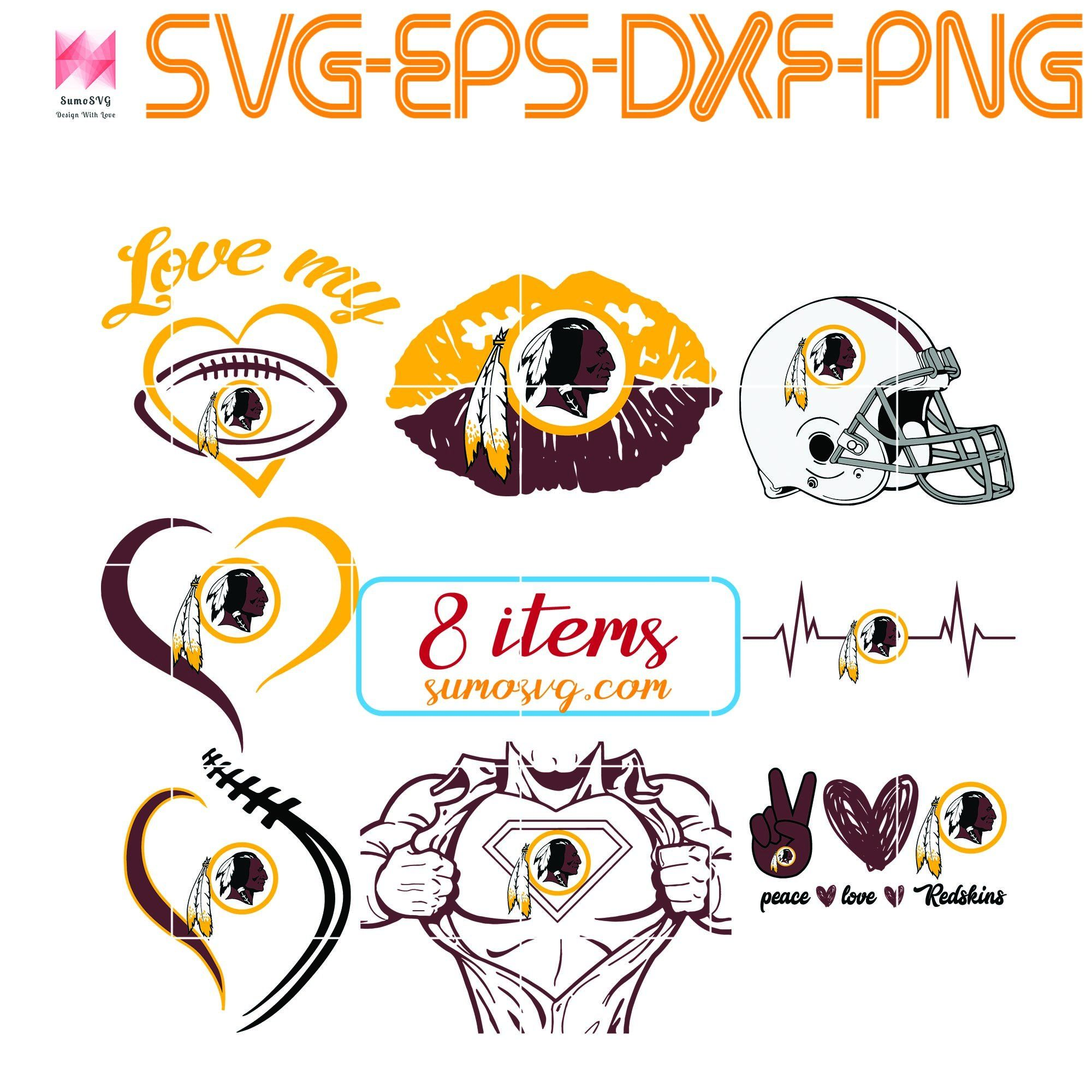 Pin on Washington Redskins SVG, PNG, EPS, DXF, digital
