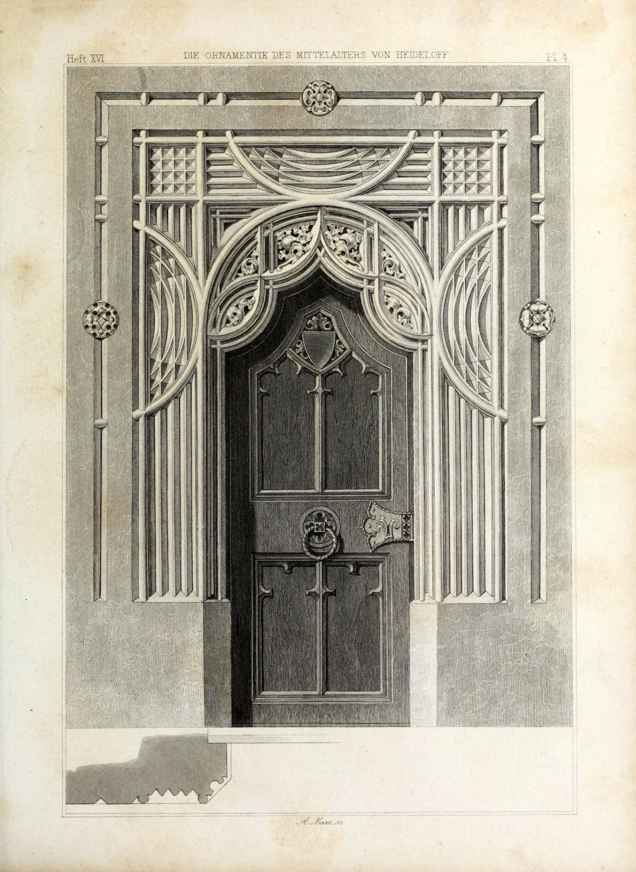 Archimaps: U201c Design For A Gothic Doorway U201d