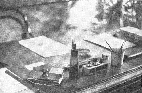 Tavolo di lavoro di Chekhov a Yalta