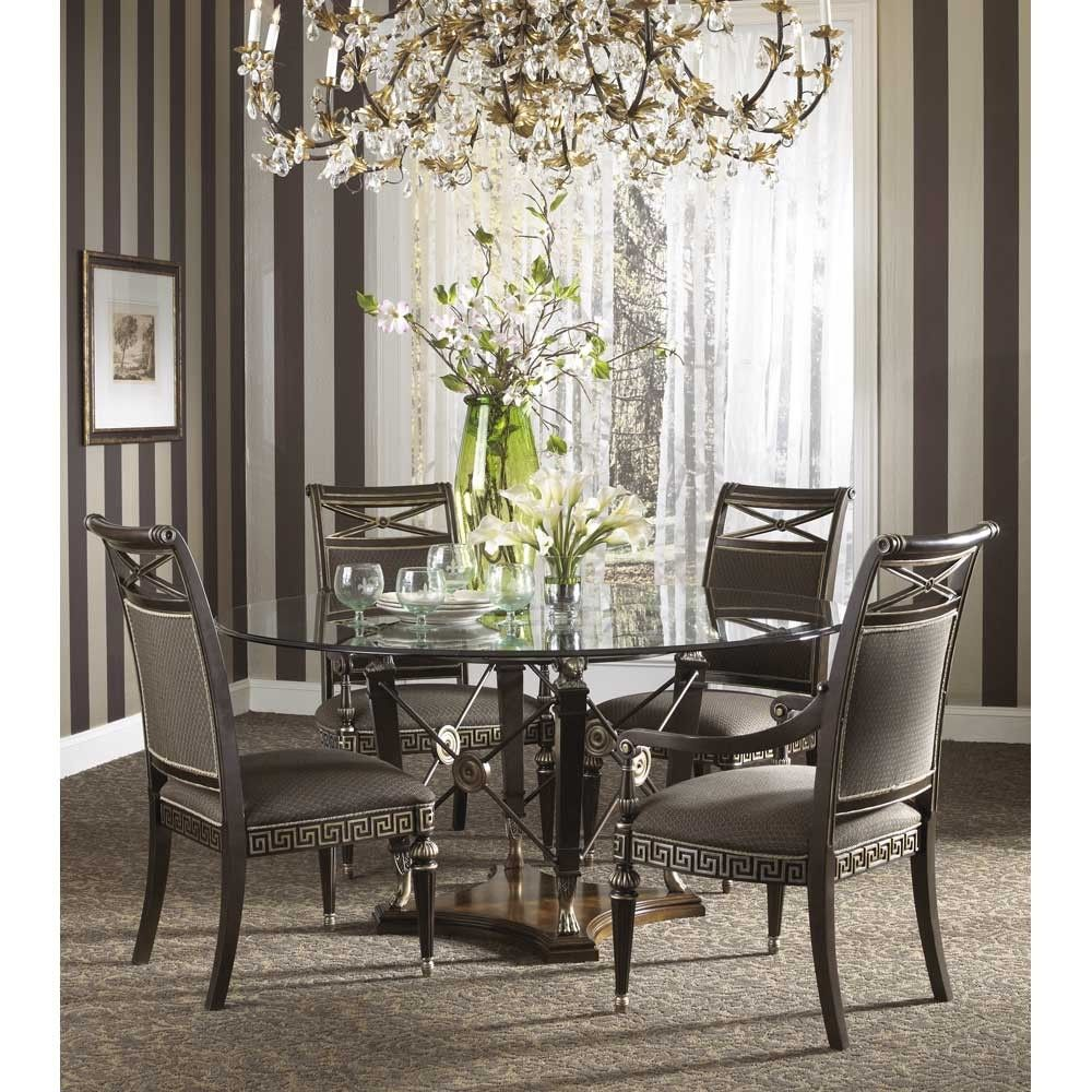 Contemporary Glass Dining Room Tables Endearing Fine Furniture Design Belvedere 64 Inch Round Glass Top Dining Decorating Inspiration