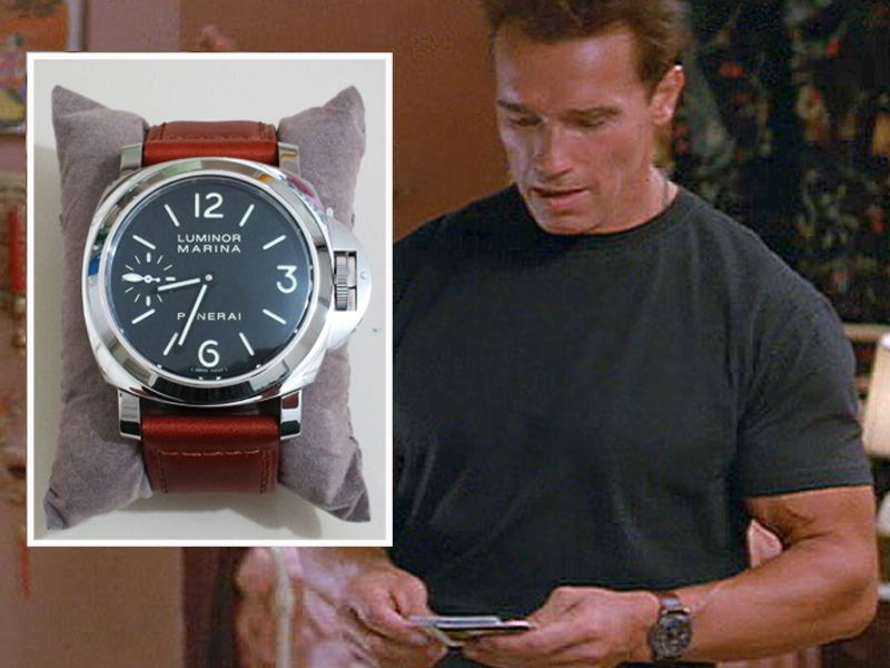 Arnold schwarzenegger panerai luminor marina panerai watches beautiful watches for Celebrity wearing panerai