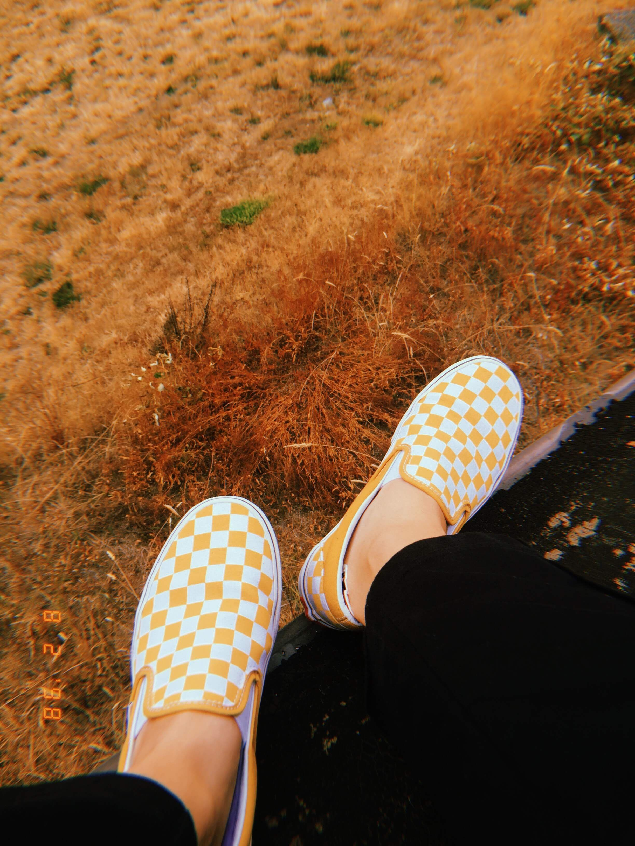 yellow checkered vans (With images) Yellow vans