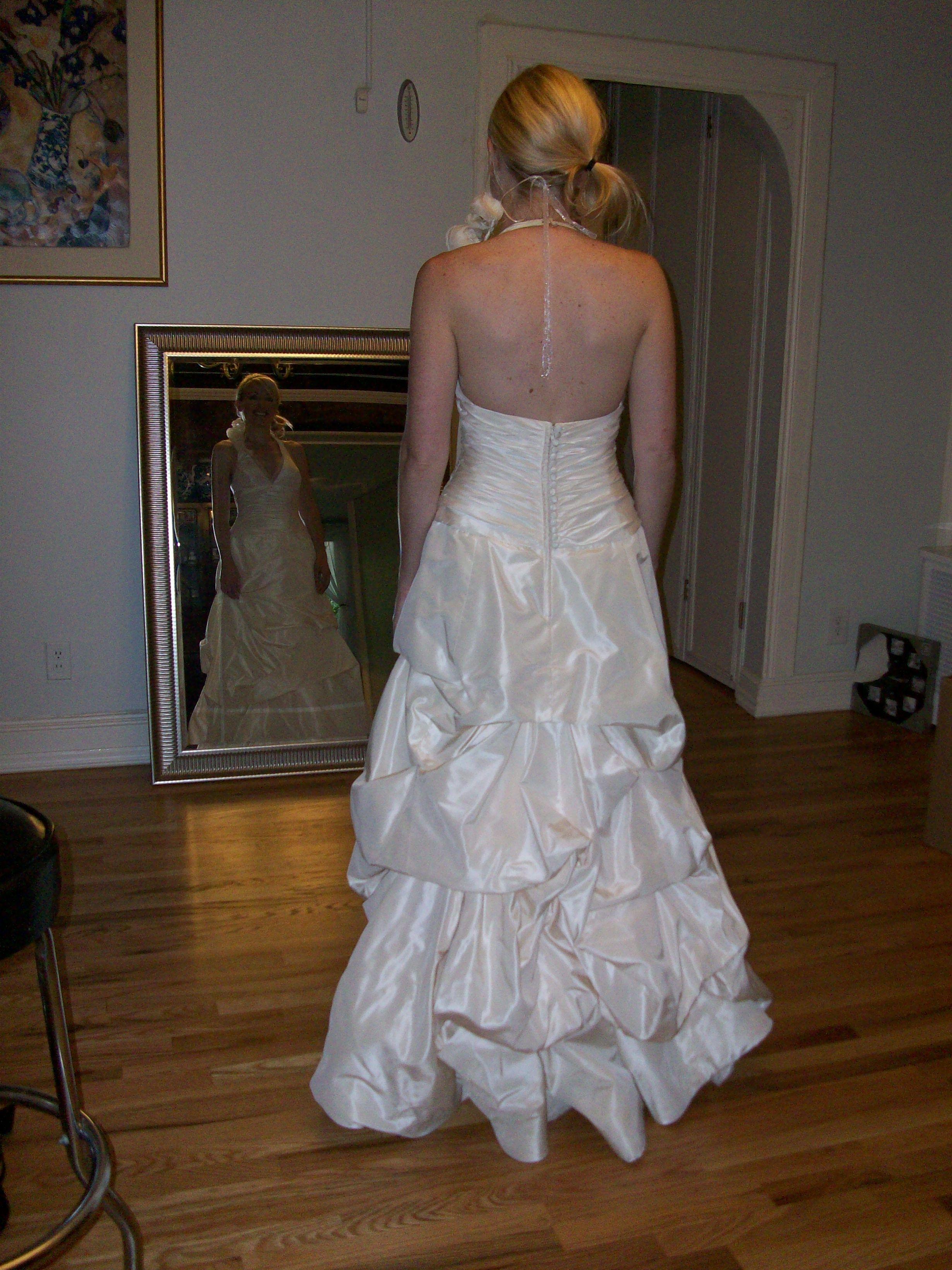 French Bustle Wedding dresses, Strapless wedding dress