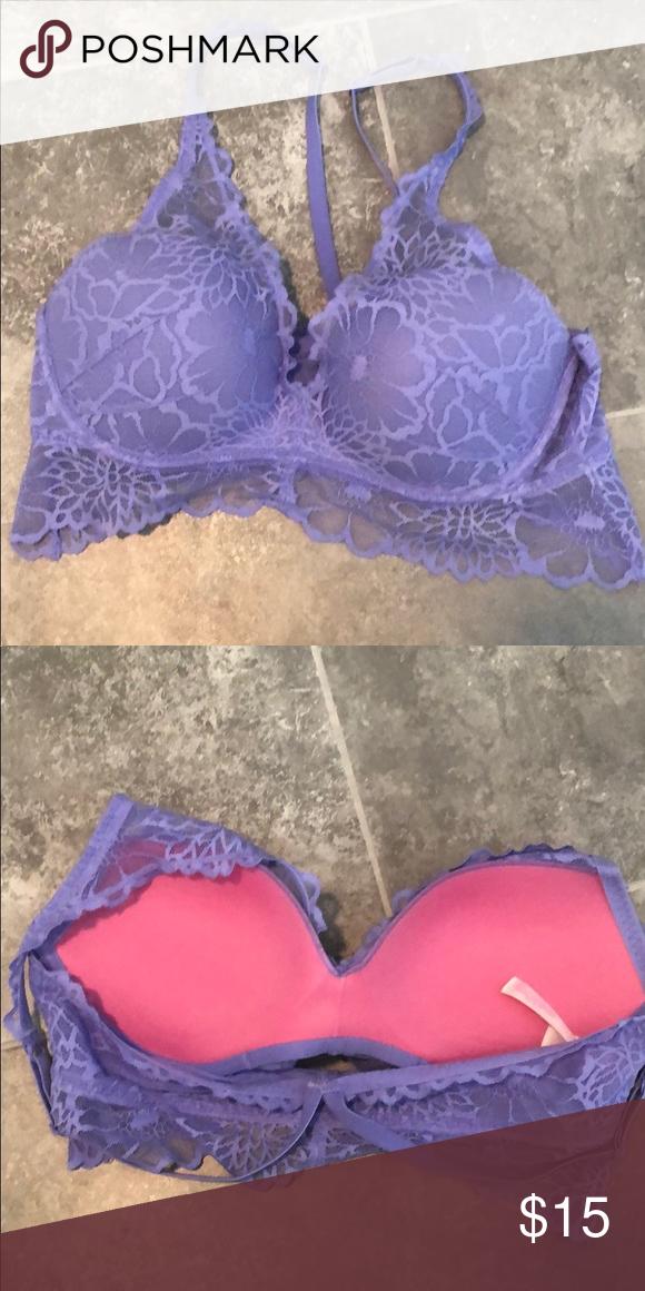 7dc9154377 Pink Victoria s Secret Bra Fun push up bra with racer back. Underwire.  Lightly used. PINK Victoria s Secret Intimates   Sleepwear Bras