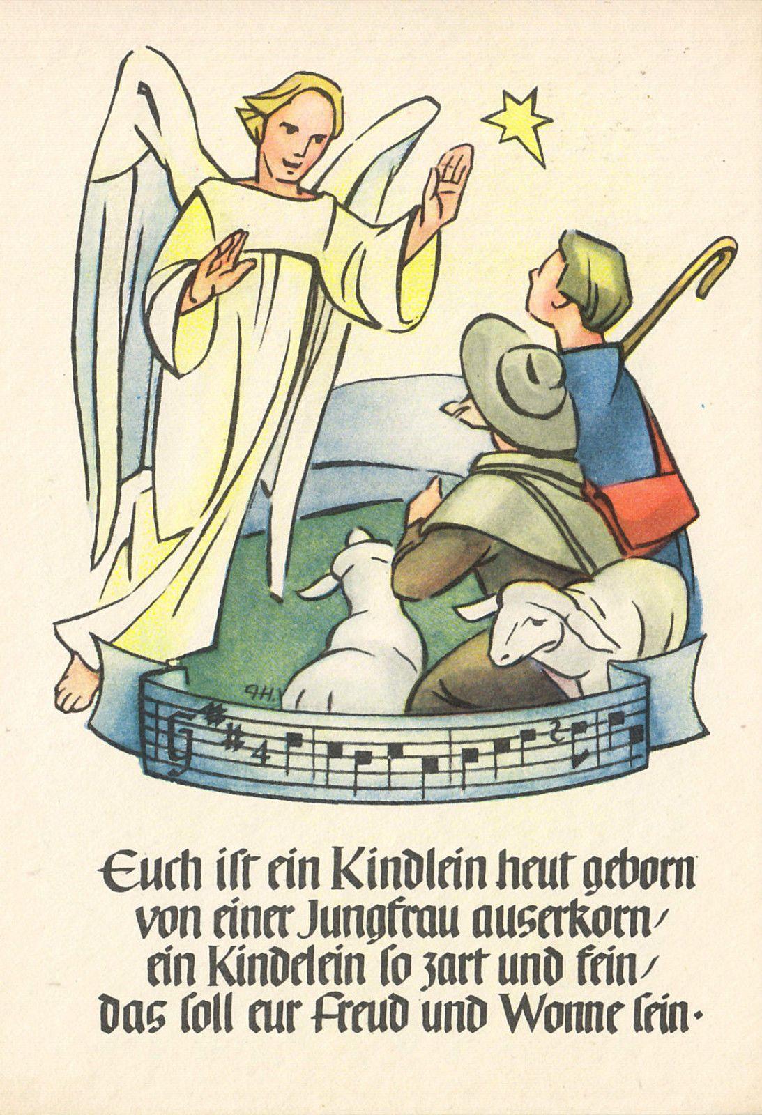 Weihnachten - Euch ist ein Kindlein heut geborn sign. , ca. 1963   eBay