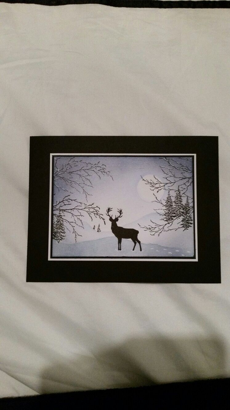 Stag in winter card