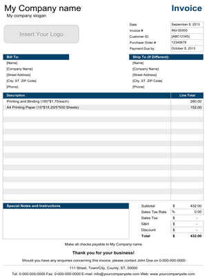 create invoices in a matter of minutes with this simple invoice