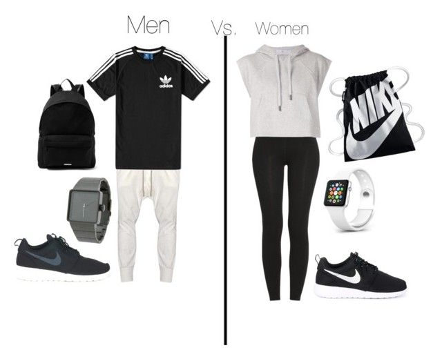 Men vs women sporty outfit | Sporty outfits, Men vs women, Women