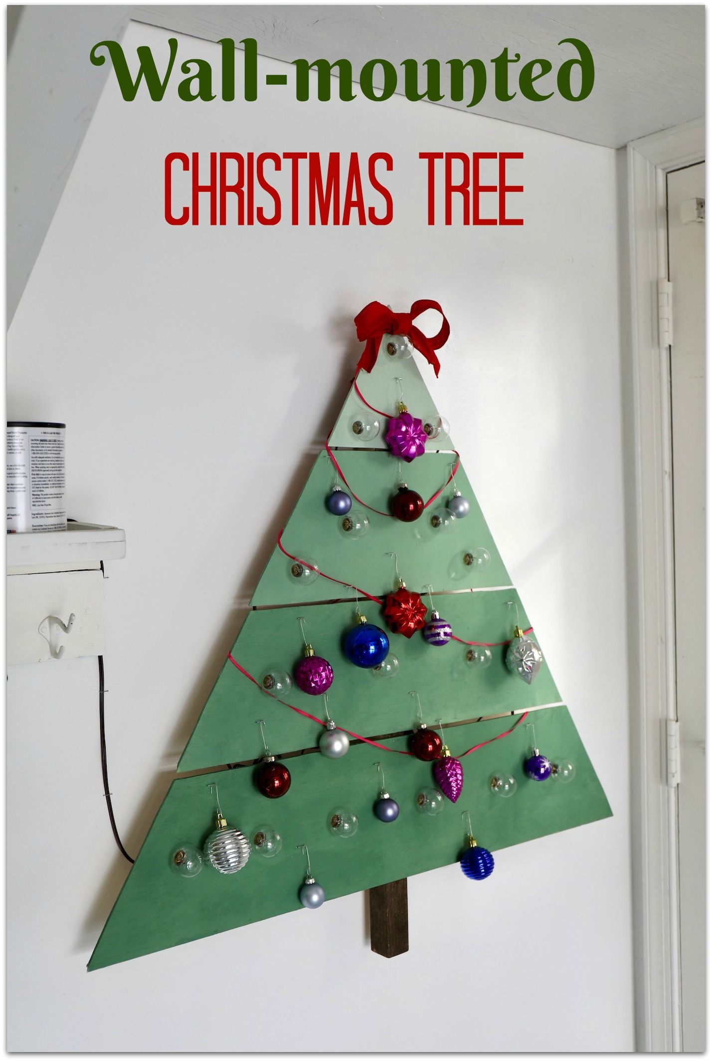 How To Make A Wall Mounted Christmas Tree Wall Mounted Christmas Tree Work Diy Wooden Christmas Trees