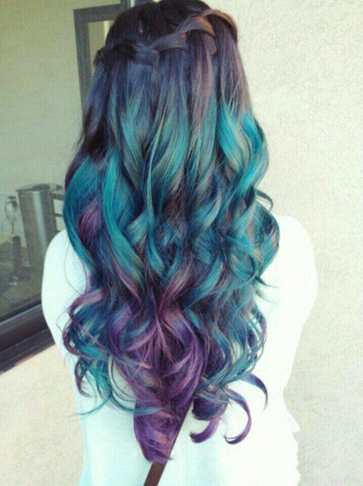 Black Green Aqua Hair Hair Styles Mermaid Hair Color Mermaid Hair
