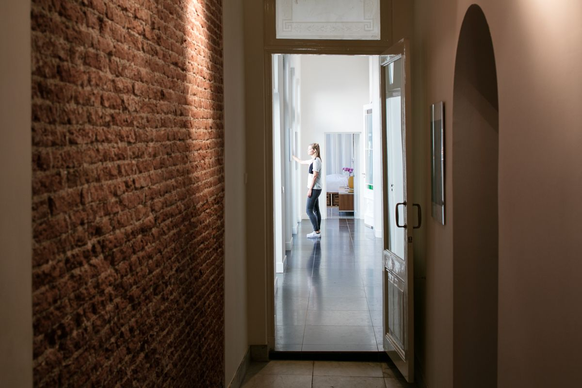 Stonewall modern material interior design brickwall