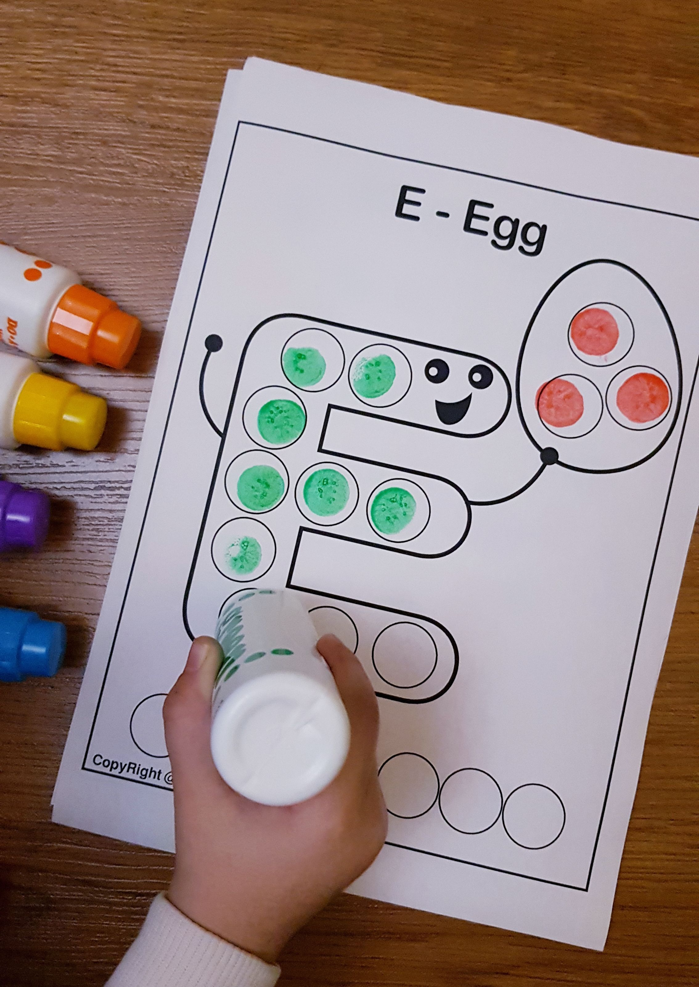 Free Printable Dot Marker Coloring Pages Help Children
