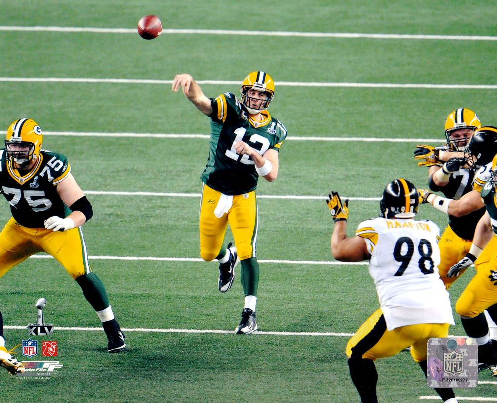 Aaron Rodgers Green Bay Packers 8x10 Superbowl Photo File With Hologram Greenbaypackers Superbowl Xlv Rodgers Green Bay Green Bay Packers