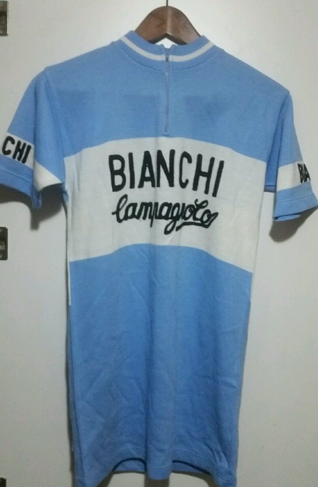 Maglia ciclista vintage 70 bianchi campagnolo Shirt jersey cyclist 70  vintage  45ad09901