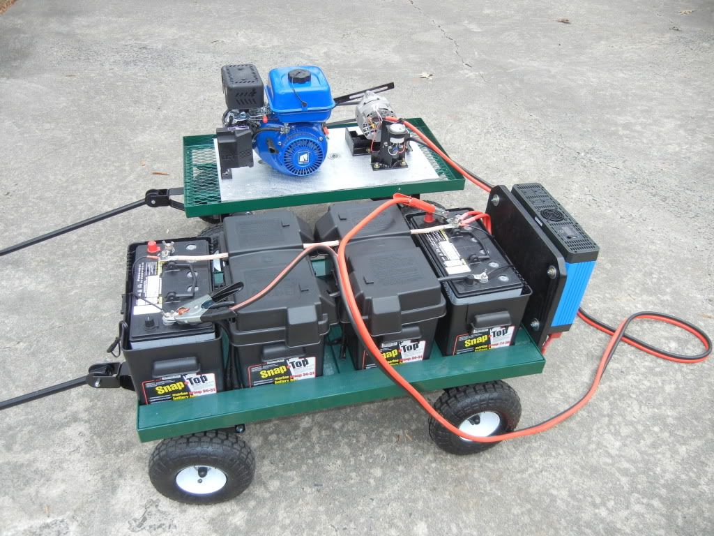 power generator on carts one cart has a honda engine. Black Bedroom Furniture Sets. Home Design Ideas