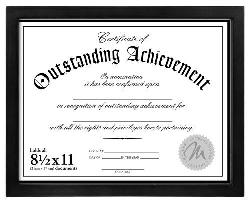 malden international designs wooden document frame 85x11 black want to know more click - Document Frames 85 X 11