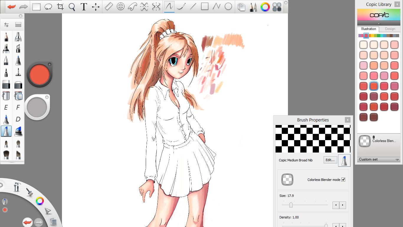 Raul S Manga Girl Following Digital Tutors Tutorial On Sketchbook