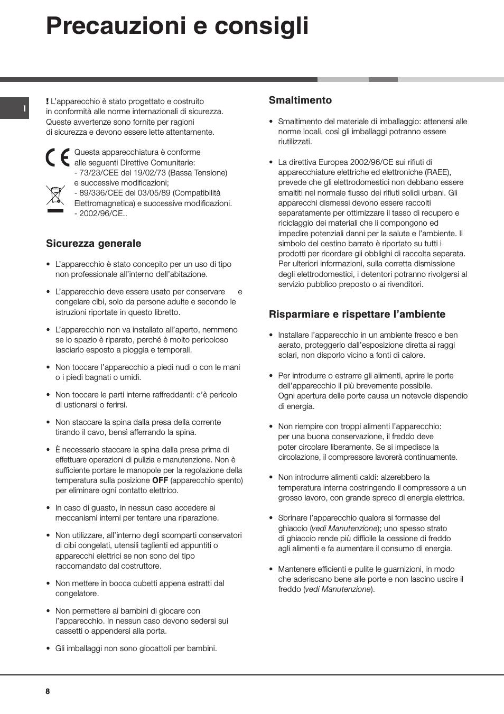 Ariston MBL 2021 HA User Manual • Risparmiare e rispettare