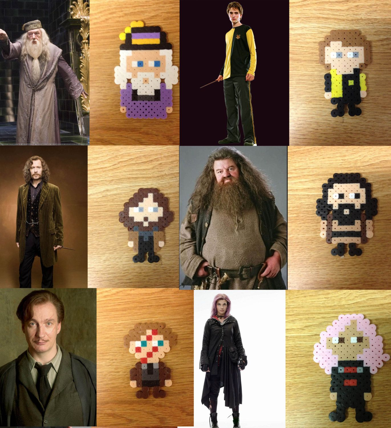 Harry Potter Characters Perler Bead Pin/Magnet/Keychain Hand-crafted ...