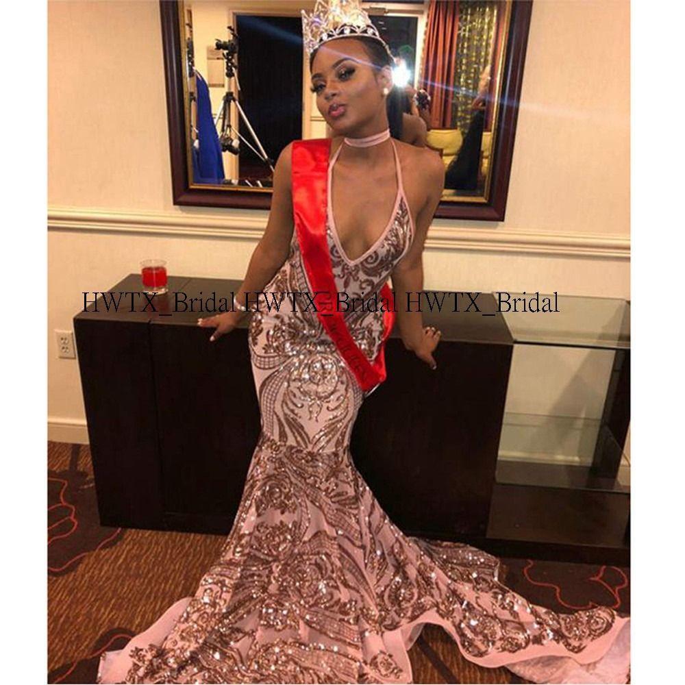 2020 New African Black Girl Prom Dresses 2K20, 2020 Uzun