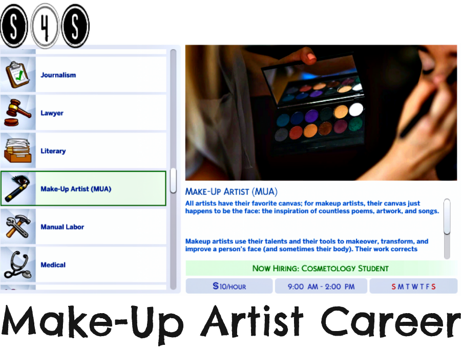 MakeUp Artist Career (With images) Sims 4 challenges