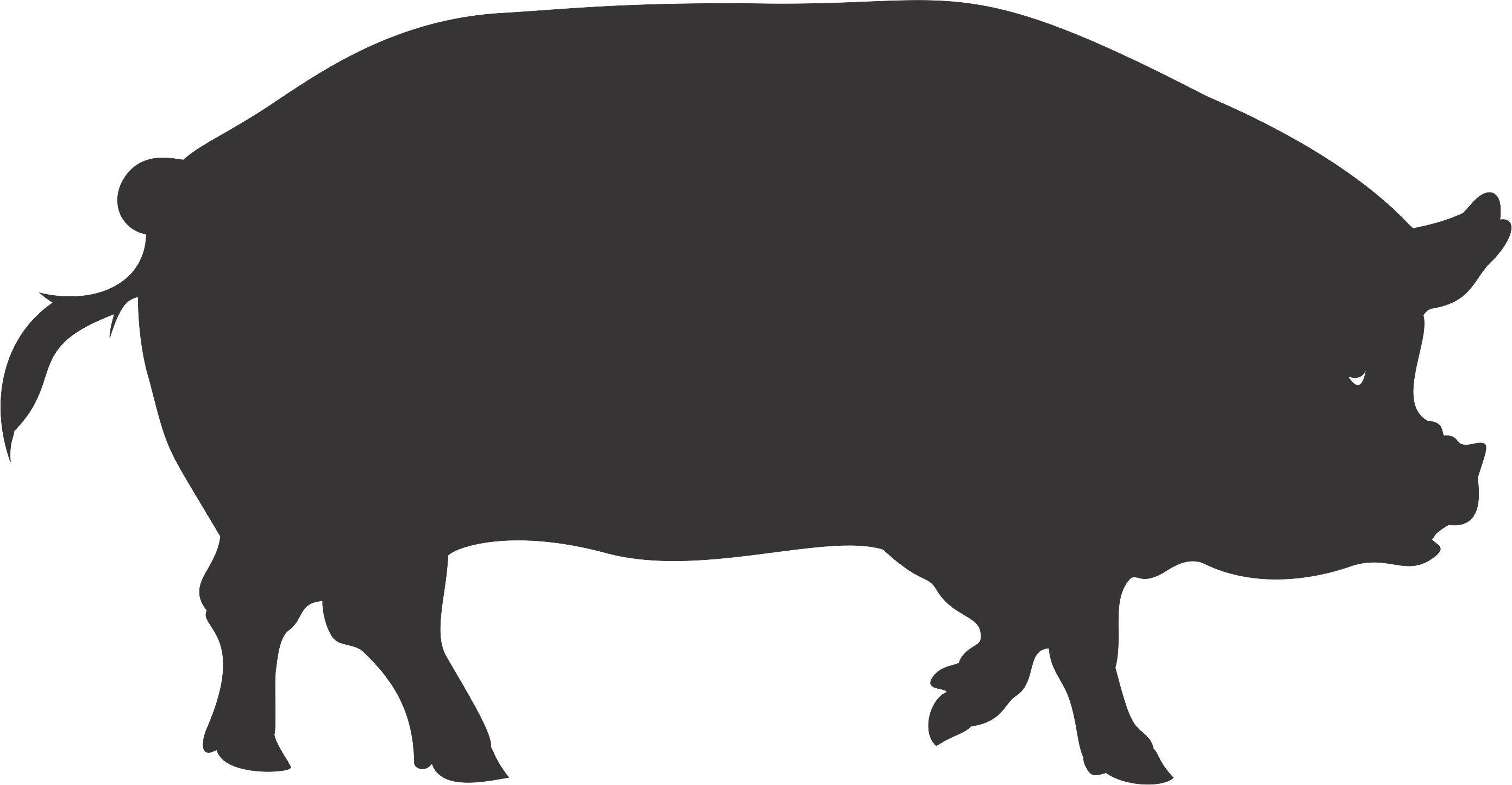 Pig Silhouette Pig Silhouette Pig Cartoon Cartoon