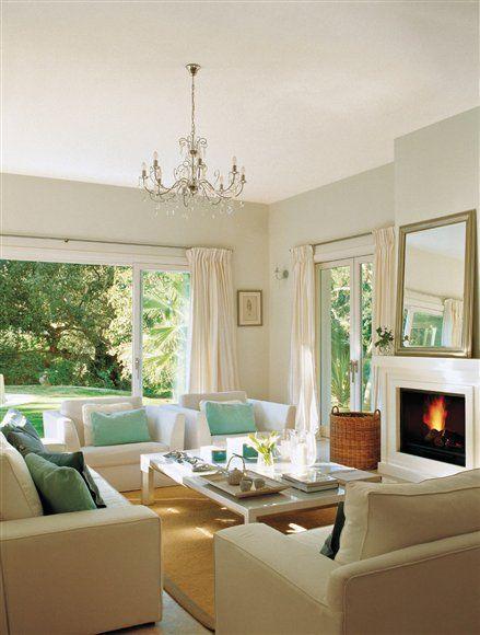 Para disfrutar de cada instante del d a como si fuera una - Como decorar un salon con chimenea ...