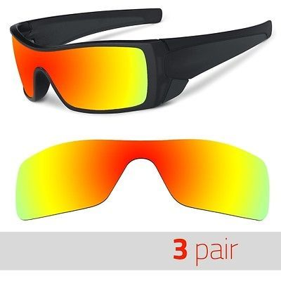 875cce1d41dbd 3 Pair Optico Replacement Polarized Lenses for Oakley BATWOLF Sunglasses  FireRed