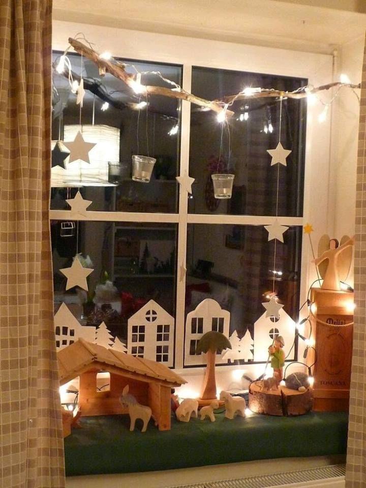 Villas navideñas de papel Tijeras, Las plantas y Económicas