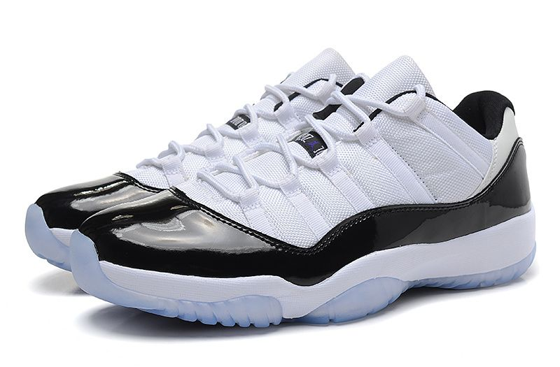 730ab3522696dd Air Jordan 11 Low Concord White Black Dark Concord 528895 153 Hot Sale